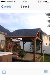 Terrasse bois traité brun ou vert de qualité RBQ:8100-9656-21 West Island Greater Montréal image 6