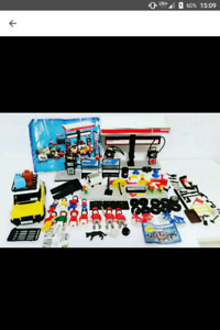 Vintage Playmobil ESSO Gas Station Set