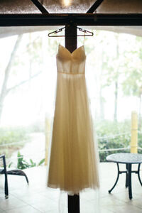 Beautiful open back wedding dress for sale!