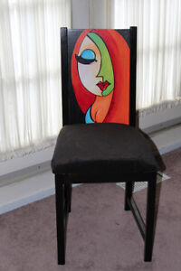 Funky Hand painted occasional Chair