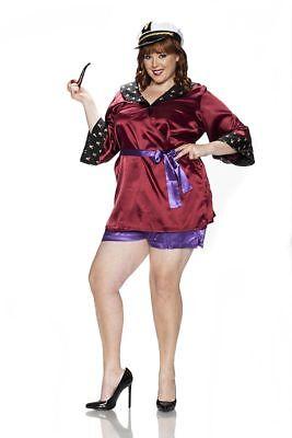 DELICIOUS PLAYBOY MANSION MISTRESS HUGH HEFNER BUNNY HALLOWEEN COSTUME 1X PLUS - Hefner Halloween Costume