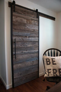 Reclaimed Wood and Iron Barn Door by LIKEN Woodworks