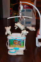 Crib mobile and Fisher Price Aquarium