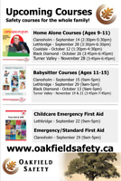 Babysitter Course/ Home Alone Course/ First Aid Courses