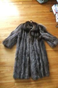 Manteau de fourrure authentique