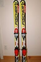FISHER RACE RC 4 SKIS 120 CM JUNIOR WITH HEAD BINDINGS