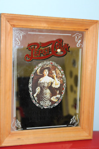 Vintage Pepsi Cola Mirror Art Sign