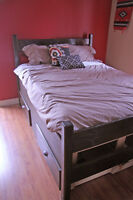 Double Bed Frame & Mattress.