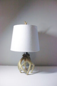 MODERN NATURAL WOODEN BED SIDE TABLE LAMP