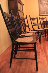 Chaises de cuisine antiques (5) - sièges tressés refaits