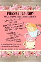 Princess tea party tickets