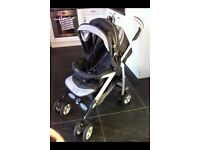 Pram sliver cross travel system