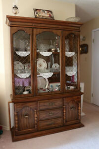 China Cabinet made of solid Walnut