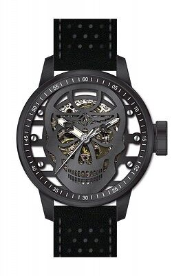 Invicta Men's S1 Rally Mechanical Black Stainless Steel/Leather Watch 20195