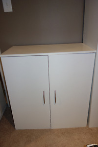 Storage units - set of 3 white laundry cabinets in excellent con