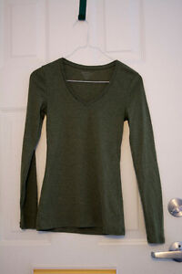 Long Sleeved Olive Jersey Top