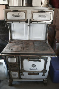 Antique Monarch Wood Stove with Overhead Warmers