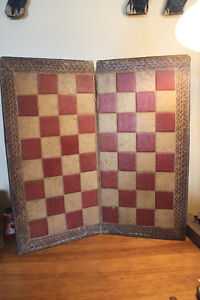Old Folding Checkerboard - Leather-Like Surface