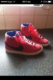 Ladies/girls size 5.5 Nike suede high tops £15wore once