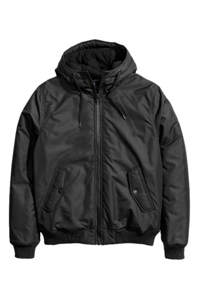 H&M HnM Hooded Padded BOMBER JACKET Black WINTER USE BRAND NEW! Sizes Available!
