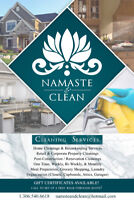 Namaste & Clean -Cleaning services and more!
