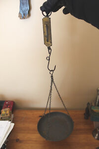 Old Pocket Balance Scale - Germany with Tin Hanging Scale Pan