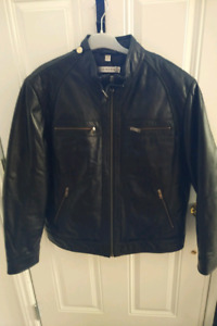 Brand new tags on Danier Cafe Racer style leather jacket