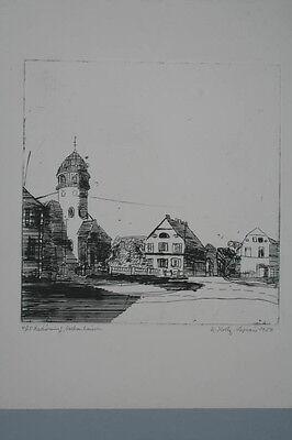 Roberte Holly-Logeais - Rockenhausen - Original-Radierung