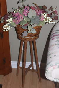 Wicker Plant Stand with or without Florals