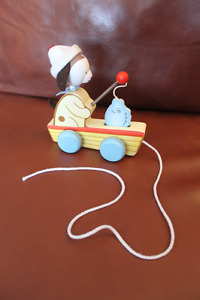 "Bunnies by the Bay ""Skipit's Fishy Wooden Pull Toy"