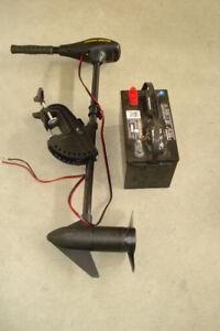 moteur electrique minn kota avec batterie