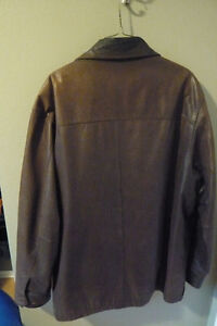 Timberland brown leather jacket with removable lining Peterborough Peterborough Area image 3