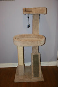 2 LEVELS Cat scratcher. Very Neat and Slightly Used.