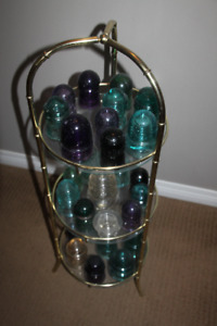 Collection of Vintage Insulators w Stand