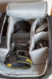 Nikon D70S, Nikkor 18-70 ED, Sigma 70-300 APO DG, etc...