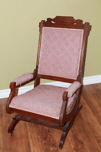 ANTIQUE-VICTORIAN LADY/CHILD SMALL ROCKING CHAIR