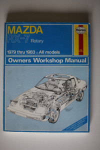 MAZDA RX-7 Rotary 1979-1983 Workshop Manual Haynes