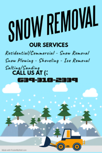 Snow removal and shoveling also salting