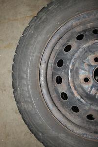 Four Goodyear Nordic Winter tires 175/65R14 Peterborough Peterborough Area image 3