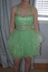 MINT GREEN TOOLE DRESS WITH BLING--NEW PRICE 2018 MIDLAND