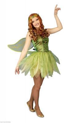 bell Kostüm Kleid Elfen Damen Waldfee Feenkostüm Wald (Damen, Tinkerbell Kostüm)