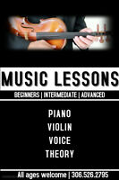 Violin - Piano - Voice lessons