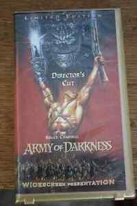Army of Darkness (VHS) - limited edition director's cut