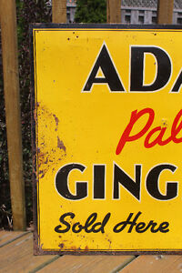 TWO 1940's Adanac Ginger Ale Signs London Ontario image 3