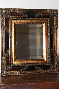 Gold and Black decorative Mirror