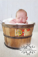 Great New Born Photo Prop  - Old Orchard Fruit Basket.