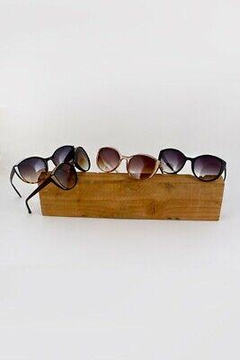 NWT Womens Glitter Cat Eye Sunglasses Black Brown Leopard Rose Gold NEW Fashion (Leopard Sunglasses)