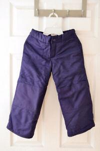 Purple Snow Pants sized 4-5T from Joe Fresh