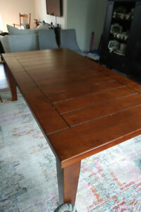 Dining Room Table Set w/ 4 Chairs & Bench