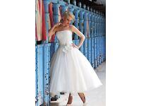 Ivory and Co tea length wedding dress size 16/18